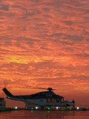 Sunset at Heliport