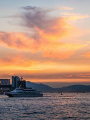 Summer Sunset Over Victoria Harbour