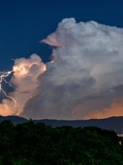 Lightning in Cumulonimbus clouds